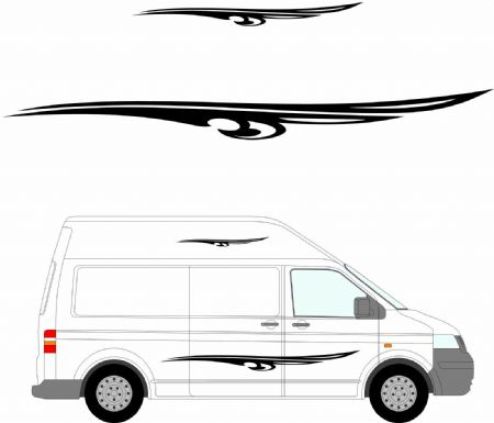 (No.163) MOTORHOME GRAPHICS STICKERS DECALS CAMPER VAN CARAVAN UNIVERSAL FITTING